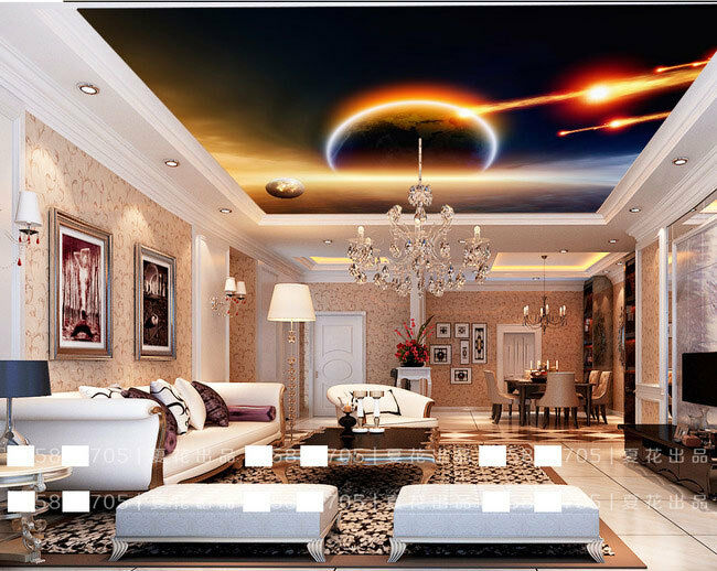 Planet Outer Space Comet Ceiling Wall Mural Wall paper Decal Wall Art Print
