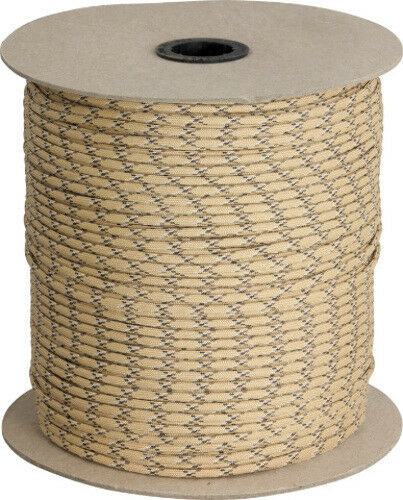 Parachute Cord Parachute Cord Desert Camo 1000 ft length. 7 strand. Rated for 55