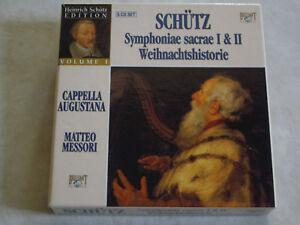 Box-Set-SCHUTZ-Symphoniae-Sacrae-I-amp-II-etc-Cappella-Augustana-5-CDs
