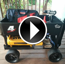 Mechanic Tool Cart 4 Wheel Carts Shop Garage Cart Pull Wagon Indoor Outdoor Cart