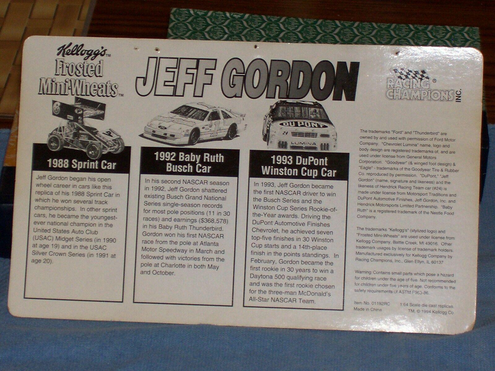 1994 Jeff Set Gordon 1/64 NASCAR diecast Collector Set Jeff a30d3d