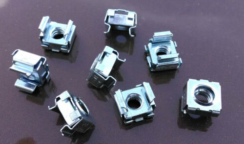 "Panel Range .064-.105 Zinc Plated 3//8/"" Mount Hole 1//4/""-20 Cage Nuts 25"