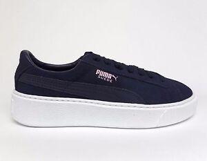 529002865e3414 Puma Big Kids  SUEDE PLATFORM JUNIOR Shoes Peacoat Navy 363663-03 b ...