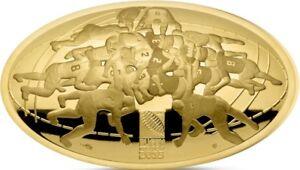 200 Euro 2015 Rugby WM in Frankreich gewölbte Münze Gold PP bitte lesen