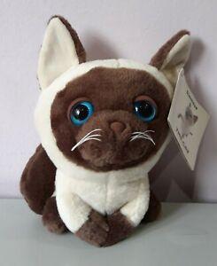 Brown-Siamese-Cat-Blue-eye-Plush-Stuffed-Animal-Soft-Toy-Artlist-International