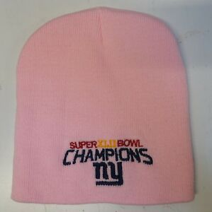 New York Giants Pink Super Bowl 42 Champions Winter Beanie Hat  c149c9986