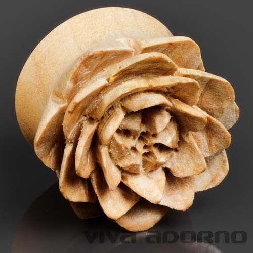 4-30mm plug Flesh tunnel bois rose target escargot oreille piercing fleur de lotus z414