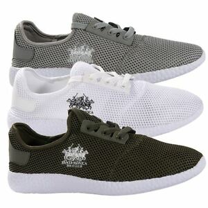 Santa-Monica-Polo-Club-Mens-Sports-Lace-Up-Trainers-Active-Gym-Footwear-Shoes