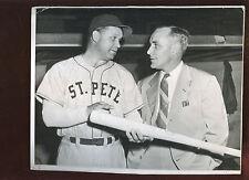 Original Vintage Culver Pictures 8 X 10 Baseball Photo Jimmy Foxx St. Pete