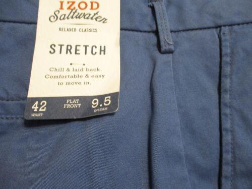 Izod Saltwater Cotton Blnd Flat Front Casual Shorts w//Stretch SR$55-60 NEW