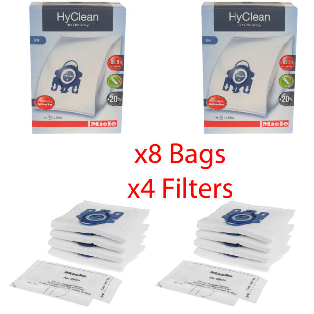 2 Filters Fits Miele Vacuum Cleaner Bags Type GN X 5
