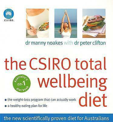 1 of 1 - THE CSIRO Total Wellbeing Diet: Dr Manny Noakes Book 1 Well being Diet Pb
