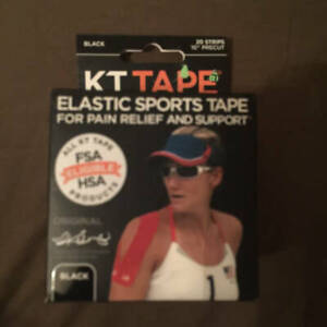 KT Tape Original 20 Pre-Cut Strips Purple Kinesiology//Cotton//Elastic//Sports//NEW