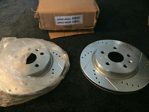 Power Stop AR8388XPR Drilled and Slotted Rear Brake Rotor Pair