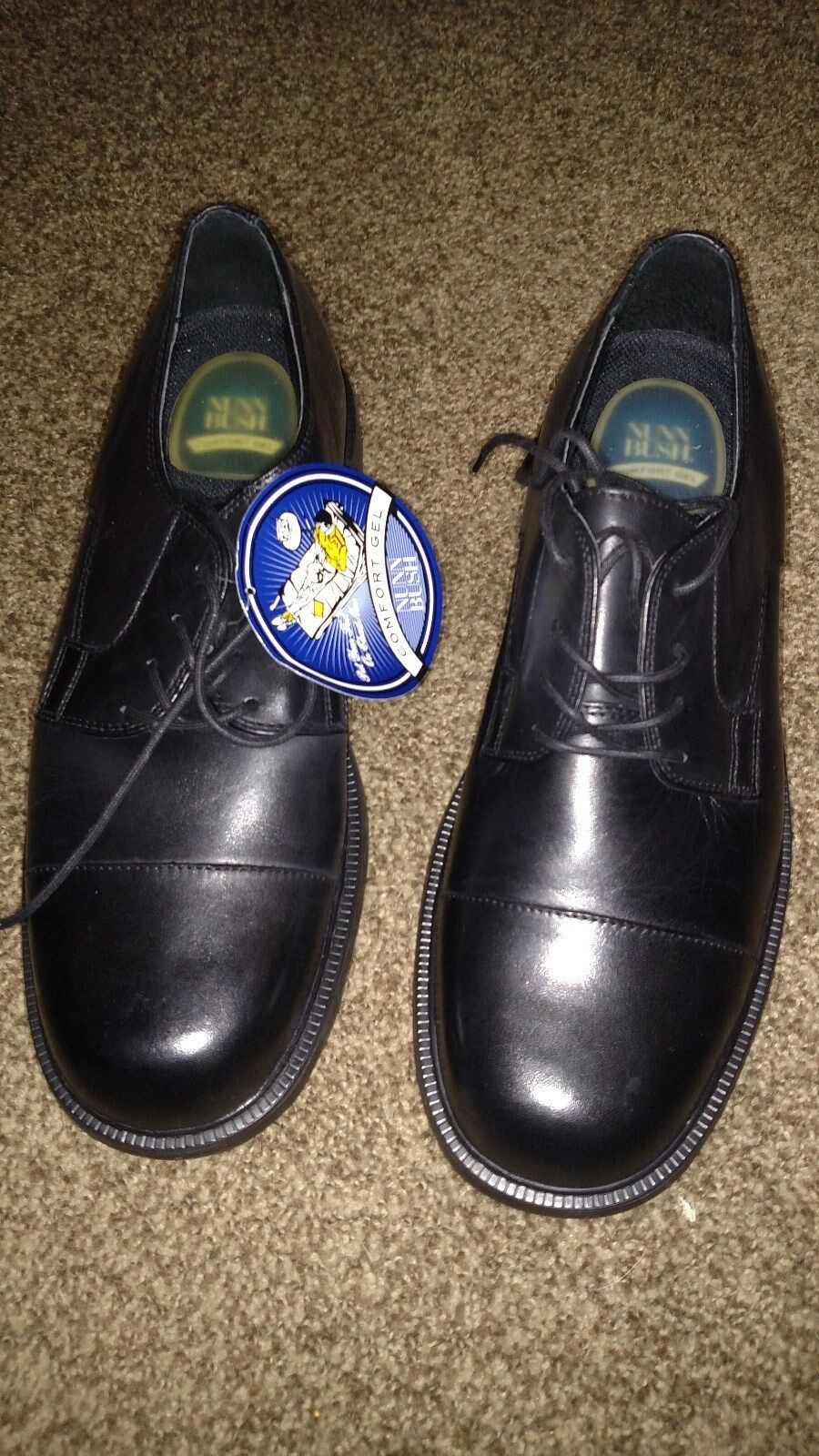 Nunn Bush mens black resistant shoes 12 Hanlan slip resistant black dde050