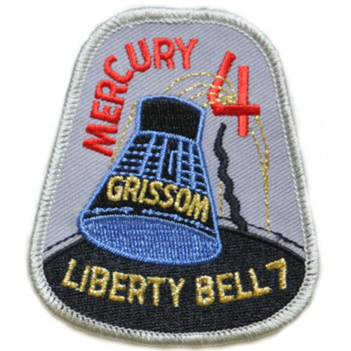 Official Patch Mercury 4 Mission Embroidered Patch 7.cm x 7.5cm approx