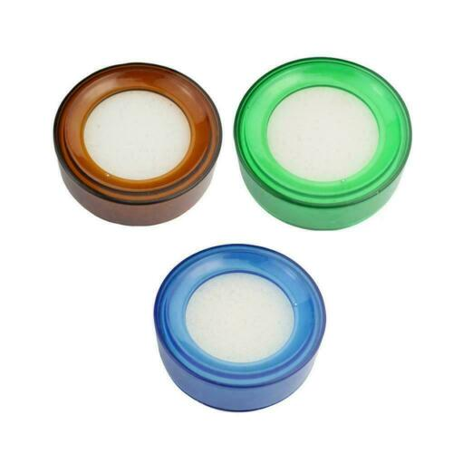 Plastic Round Case Sponge Finger Wet Sponge For Counting Cash Money S3I8