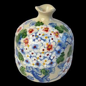 Vintage Japanese Flower Vase Porcelain Hand Painted