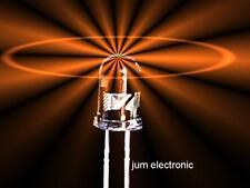 10 Stück Leuchtdioden  /   Led  /  3mm  AMBER   (  mehr  in´s orange gehend  )