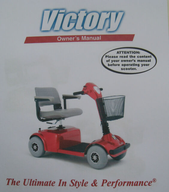 Pride Mobility Victory Scooter User Owner Instruction Manual Guide