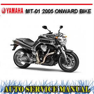 yamaha mt 01 2005 onward bike workshop service repair manual dvd rh ebay com au Yamaha MT-09 yamaha mt 01 service manual pdf