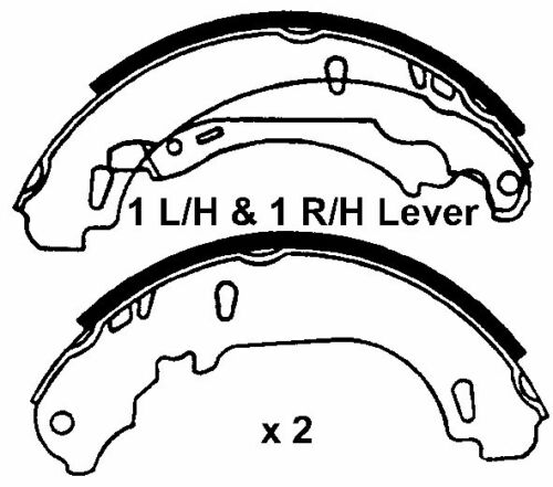 With 180mm Brake Shoes New Rear Brake Shoe Set Renault Clio MKII 98-09