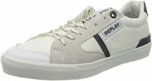 Replay Equipe Lampard White Suede Mens