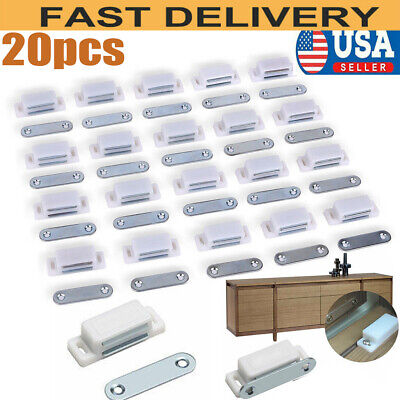 lot 20 Small Magnetic Door Catches Kitchen Cupboard ...