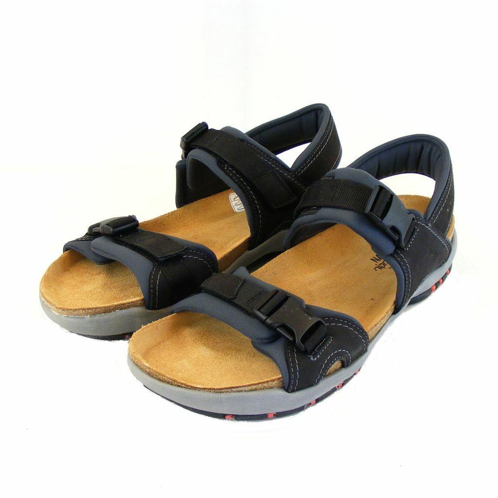 Naot caballero zapatos sandalias Explorer real-cuero negro combi plantilla 15940