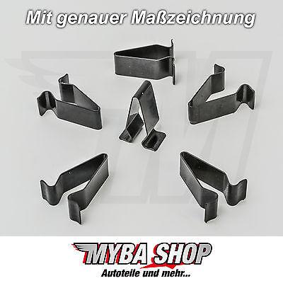 30x METALL HALTERUNG KLAMMERN KLEMME MUTTER AUDI VW SEAT SKODA