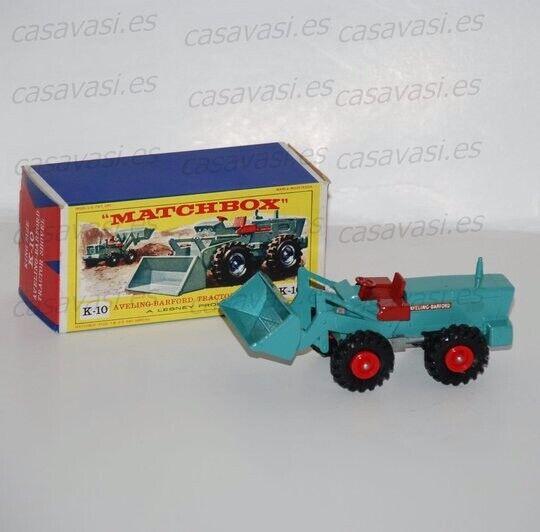 Coche Matchbox King Taille K-10 Aveling-Barford Tractor Shovel