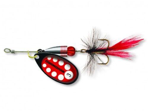Cormoran Bullet Classic Spinner Schwarz Rot mit Fliege Gr 1 3,2g 50-42331