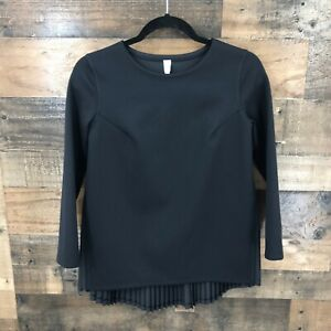 Lululemon Women's Black Rare Pleat On Long Sleeve Top Size 4