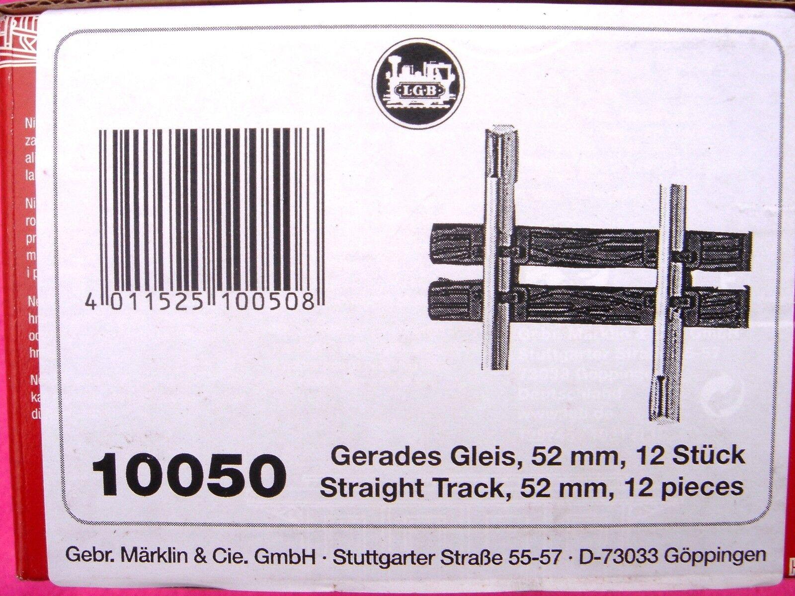 LGB 10050 G 12 PEZZI RETTILINEO binario 52 mm-NUOVO (PEZZI ) NUOVO