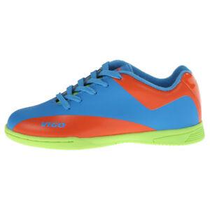 c9e5a65ad645 Image is loading Vizari-Vigo-Youth-Indoor-Soccer-Cleats-Blue-Orange-