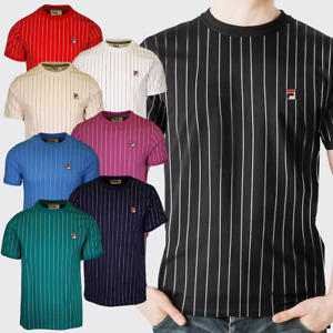 FILA Men's Striped F-Box S/S T-Shirt