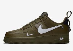 e70b5bfc02a5d Nike Air Force 1 AF1 Low Utility OLIVE GREEN WHITE SF BLACK AJ7747 ...