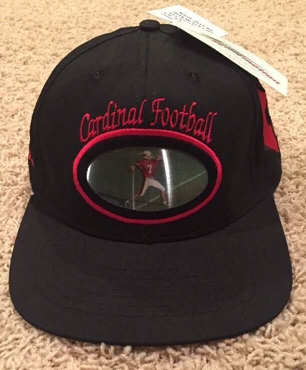 NWT University Of Louisville Cardinal Football Baseball Hologram Baseball Football Hat No. 7 UofL 41fc96