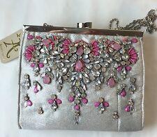 Monsoon Accessorize Silver Gem Embellished Clutch Bag (ac-1sc) (d)