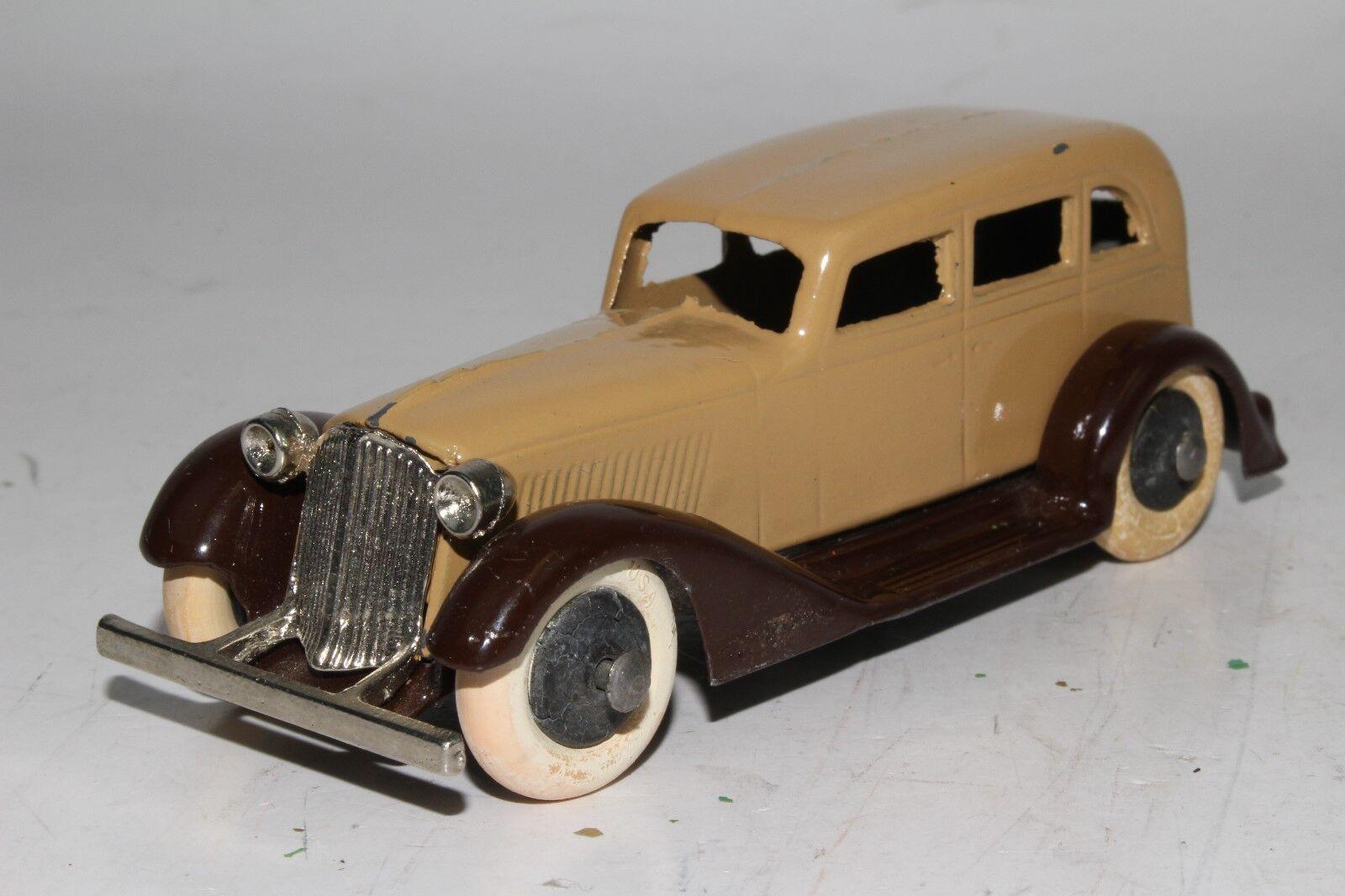 Tootsietoy 1930's Graham Sedan, braun & Tan, RestGoldt