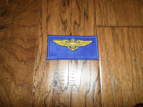 """U.S MILITARY NAVY AVIATOR  PATCH FLIGHT SUIT TAG  UNITED STATES NAVY  4/"""" X 2/"""""""