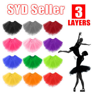 Women Adults Girls Tutu Skirt Princess Dressup Party Costume Ballet Dancewear