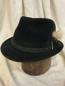 98376df61974a Dobbs   Dayton s Sixteen-Fifty Sun Valley Black Fur Felt Fedora Hat ...
