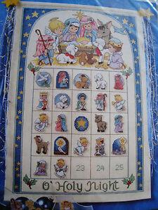 CHRISTMAS-Holiday-Counted-Cross-ADVENT-CALENDAR-Kit-O-039-HOLY-NIGHT-Morehead-Manger