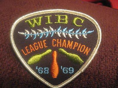 WIBC Womens International Bowling Congress 1968 Embroiderd Bowler Jacket Patch