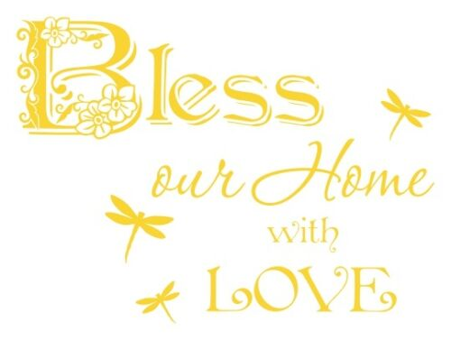 Bless our Home with Love Wall Decal Stickers