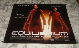 Equilibrium Original UK Quad Movie Cinema Poster 2002 Christian Bale