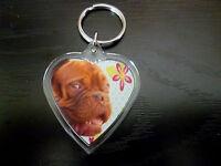 Dogue de Bordeaux Gift Keyring Dog Key Ring heart shape Birthday Gift