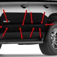 GM# 22998774 4 Piece Black Door Moldings Fits 2015-2017 Surburban & Yukon XL OEM