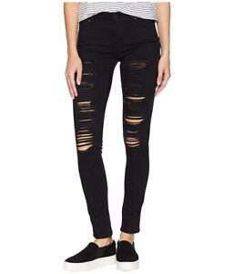 Levi-039-s-Women-s-711-Skinny-Jeans-Ripped-Mid-Rise-In-Black